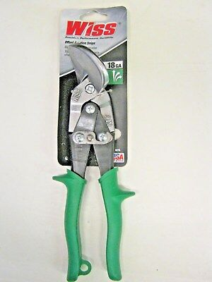 Wiss M-7R Offset Aviation Tin Snips  Straight to Right Cut