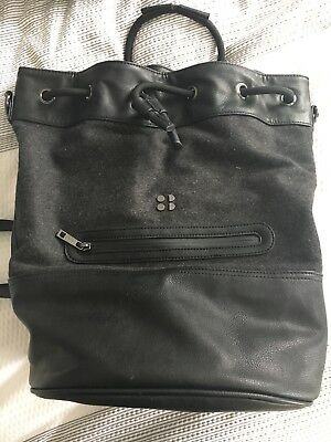 Sweaty Betty Luxe black/grey bucket bag backpack - pristine condition