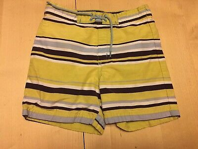 Janie And Jack Striped Swim Trunks, Yellow And Blue, 12-18 Months