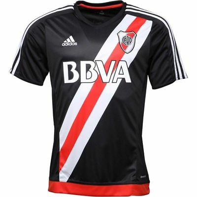 River Plate THIRD Football Shirt by Adidas - Size XL - BLACK/WHITE/RED