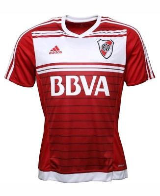 River Plate AWAY Shirt Adidas River Plate Football Shirt Adult Size L, RED/WHITE