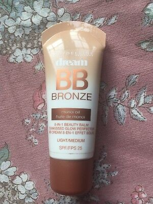 Maybelline Dream Bronze BB Beauty Balm Cream Face Skin Foundaton Light / Medium