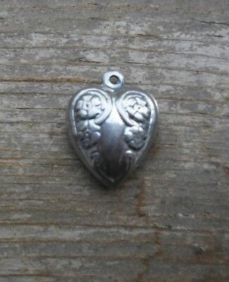 Nice Vintage Sterling Silver Puffy Heart Charm