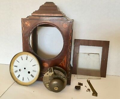"""French 6"""" clock movement and various clock parts for spares repair or renovation"""