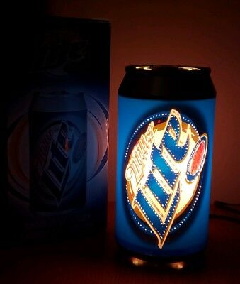 """Miller Lite Beer Can Lamp Light Motion Twinkling Illuminated 10"""" Tall"""