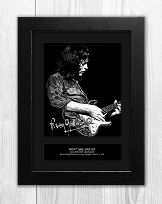 Rory Gallagher Reproduction Signed A4 Poster Print with Choice of Frame