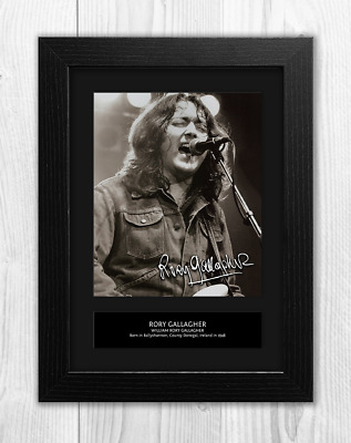 Rory Gallagher Reproduction Signed A4 Poster Print with Choice of Frame 2