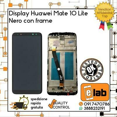 Display Touch Screen Lcd Per Huawei Mate 10 Lite Rne L21 L01 Con Frame Nero