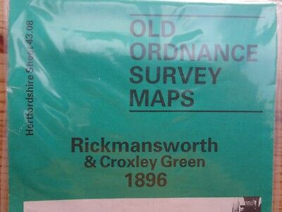 Old Ordnance Survey Map - RICKMANSWORTH 1896 - New - Free Postage