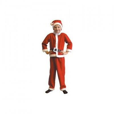 Kids Santa Claus Fancy Dress Costume 4-6 yrs Boys  Father Christmas Xmas Outfit