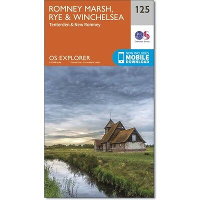 OS Explorer Map 125: Romney Marsh, Rye and Winchelsea