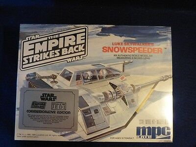 Vintage Star Wars Empire Strikes Back Snowspeeder MPC Model Kit Sealed SW ESB