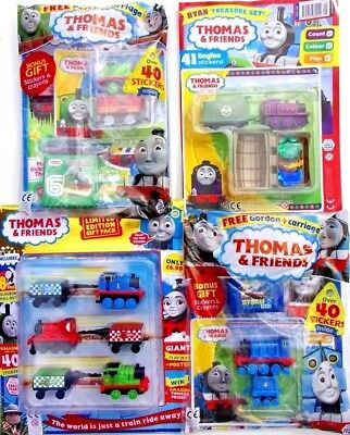 4 x THOMAS & FRIENDS MAGAZINES ~ ALL NEW WITH FREE GIFTS ~