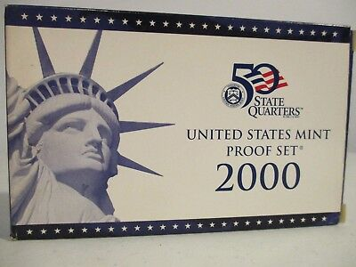 2000-S US Mint Proof Set [10 coins] in Original Pkg with Cert of Authenticity