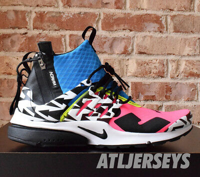 low priced a4da5 82f18 Nike Air Presto Mid Acronym Racer Pink Photo Blue Black AH7832-600 Size 4-