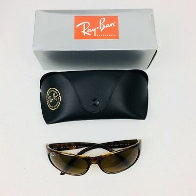 Ray Ban Unisex Polarized Sunglasses Tortoise Size 60 17 130 Brown Mens Womens