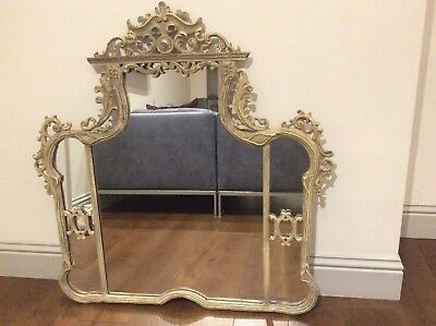 Vintage Rococo Louis French  Style Large Ornate Wall Hall Mirror