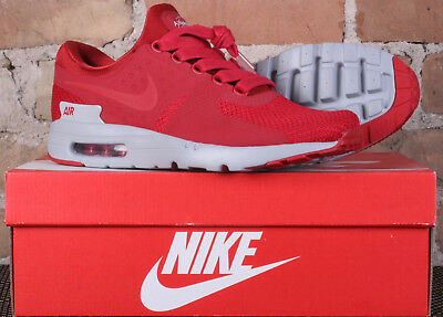 c7c1d75af9ad New Nike Air Max Zero Premium Gym Red Wolf Grey Running Shoes 881982 600  Size 12