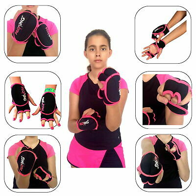 PILOXING Women Weighted Gloves Pink & Black 1/2 Lb Each - Workout/Fitness/Boxing