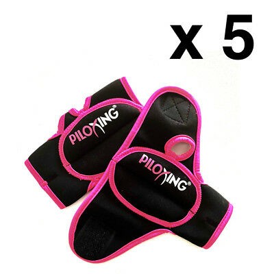 Lot of 5 PILOXING Pair of 1/2Lb Women Weighted Gloves Workout/Fitness/Kickboxing