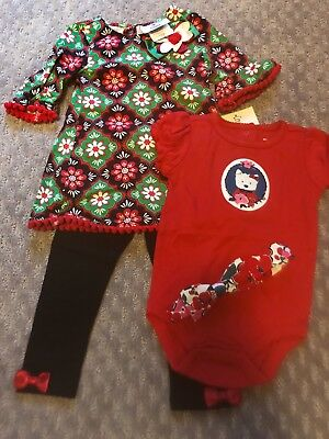christmas outfit girls 12 months Counting Daisies bonus Gymboree top and bow