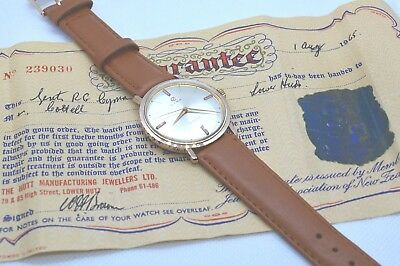 CYMA Vintage (1965) men's watch. Swiss Made. Gold plated. Boxed. Certificate