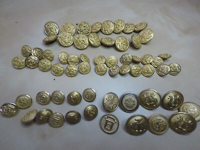 42 US  LOT BOTTON MILITARY ARMY PIN UNIFORM and20 mis