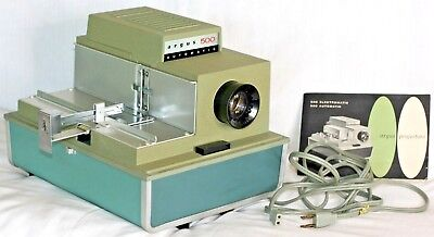 Vintage Argus 500 Automatic Projector Single Slide Model 58 works with manual