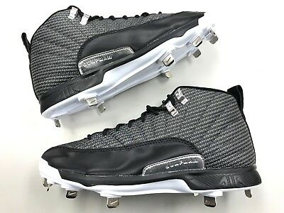 3d93e7eafe7d Brand New Nike Air Jordan XII 12 retro Metal Baseball Cleats men gray shoes  vtg