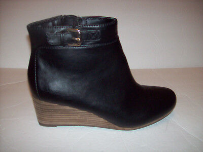 bb54523e75c1 New Dr.Scholls DAINA MEMORY COOL FIT women s black wedge ankle boots Sz ...