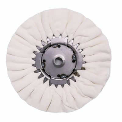 """Renegade Products 9"""" White Airway Buffing Wheel w/Center Plate. Step 3 SHOW FINI"""