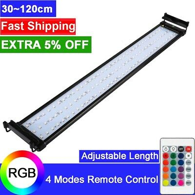 30-115cm Aquarium LED Light Lighting Full Spectrum Fish Tank Plant Aqua Lamp RGB