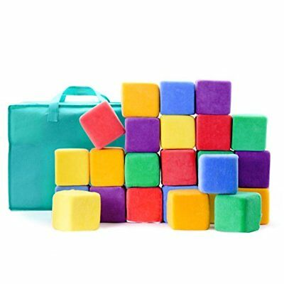 Milliard Soft Foam Blocks, JUMBO Size, for Stacking Sorting and Building, 24 4""