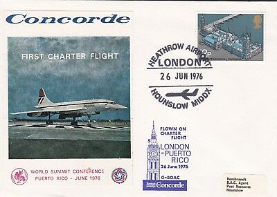CC1) 1976 First Charter Flight Flight: London - Puerto Rico CONCORDE