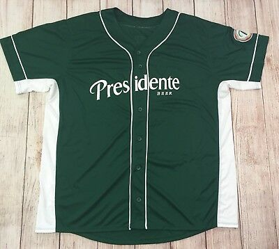 Augusta Sportswear Mens XL Baseball Jersey Presidente Beer Dominican Republic