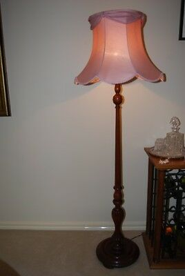 Vintage Wood Standard Lamp - Pickup Up Only