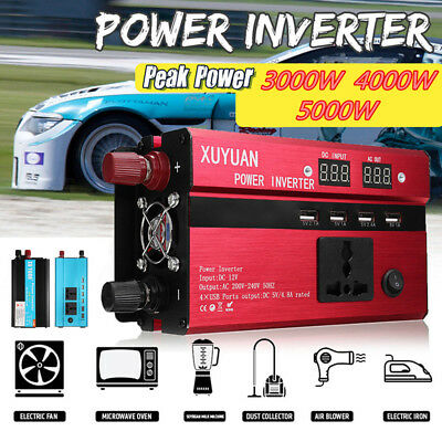 3000W/4000W/5000W Solar Power Inverter Sine Wave DC12/24V To AC110V/220V Convert