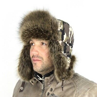 ae965dc05ef Aviator Hats for Men Russian Caps Sport Outdoor Bomber Hats with Earflaps  Mask