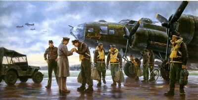 Boeing B-17 F Flying Fortress – COMING HOME/ENGLAND 1943 Painted by Gil Cohen111
