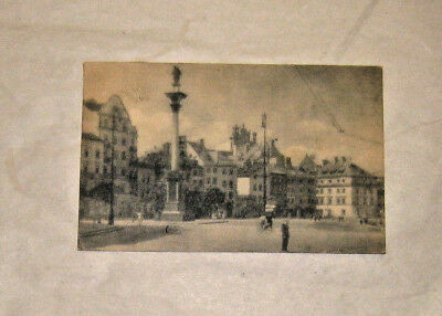 May 15 1948 Plac Zamkowy Castle Square Warsaw Poland Polish Stamps Postmark