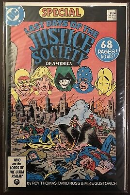 Last Days of the Justice Society of America Special #1, cover price, DC