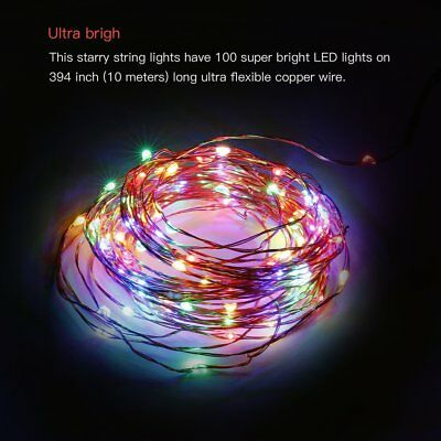 Flexible Copper Wire Outdoor Fairy Remote Control  33ft/10m LED String Light  XV