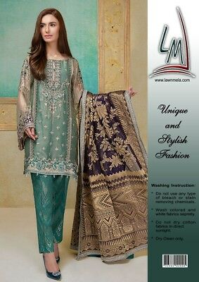 Pakistani Women's Unstitched Designer Wear (Inspired) Maria B Mbroidered Vol II