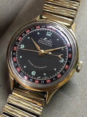 Mido Multifort Datometer Super Automatic, Roulette Dial Vintage, Rare runs As Is