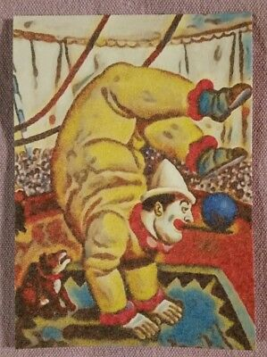 """Original ACEO Mixed Media Painting-""""Under the Big Top"""""""