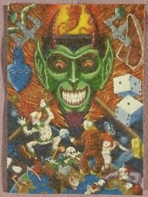 """Original ACEO Mixed Media Painting-""""The Fun House"""""""