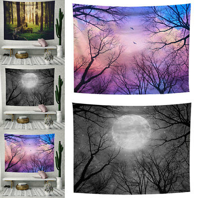 Forest Starry Tapestry Wall Hanging Beach Towel Blanket Home Decoration