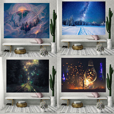Star Night Tapestry Wall Hanging Yoga Beach Towel Blanket Home Decoration