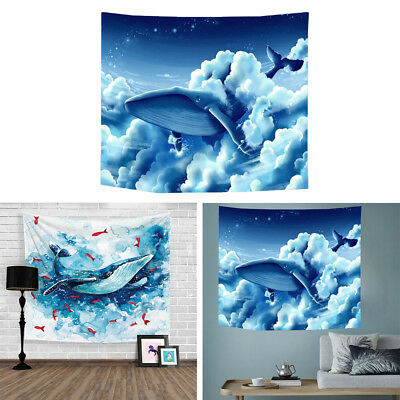 Whale Tapestry Wall Hanging Beach Blanket Digital Printing Home Decoration