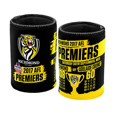 Richmond Tigers AFL 2017 Premiers Grand Final Score Footy Drink Can Cooler
